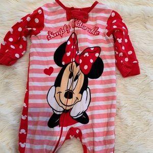 Disney Minnie Mouse baby onesie